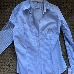 H&M button down stripped top